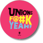 Unions F@#k Yeah! logo on pink decal.