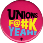 Pink Unions F@#k Yeah! button.